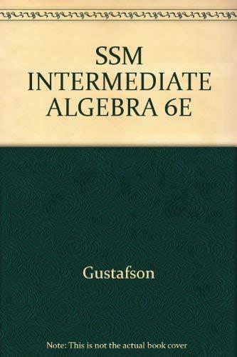 9780534384968: SSM INTERMEDIATE ALGEBRA 6E