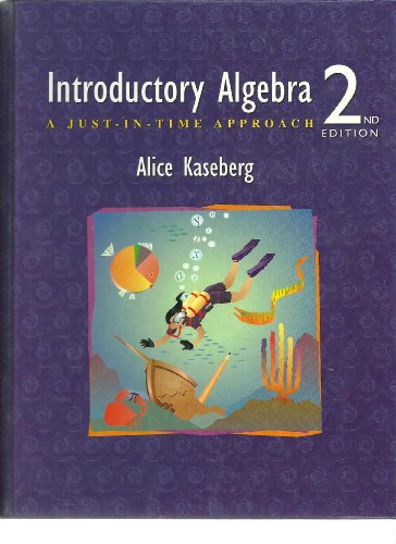 9780534389420: Introductory Algebra: A Just-In-Time Approach (with Greatest Hits CD)