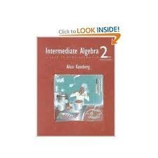 Intermediate Algebra: A Just-in-Time Approach (with Greatest Hits CD) (0534389430) by Alice Kaseberg