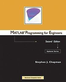 9780534390563: MATLAB Programming for Engineers