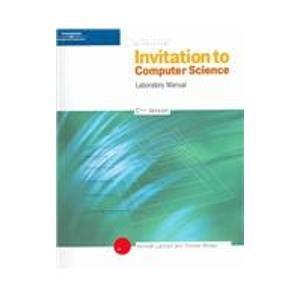 9780534390990 Lab Manual Invitation To Computer Science C