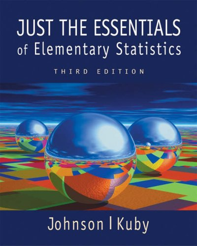 9780534391348: Just the Essentials of Elementary Statistics (Non-InfoTrac Version with CD-ROM)