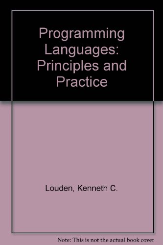 9780534391614: Programming Languages: Principles and Practice (Non-InfoTrac Version)