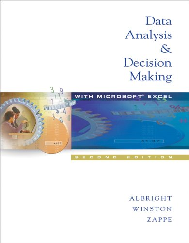 9780534391706: Data Analysis and Decision Making (Non-InfoTrac Version with CD-ROM)