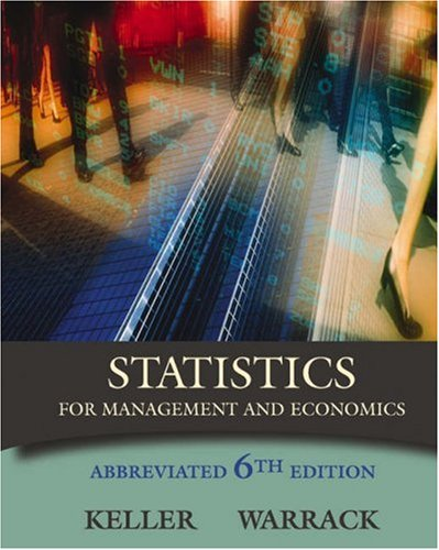 9780534391881: Statistics for Management and Economics, Abbreviated Edition (with CD-ROM and InfoTrac) (Available Titles CengageNOW)