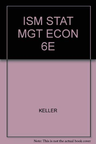 Instructor's Solution Manual for Keller and Warrack's Statistics for Management and ...