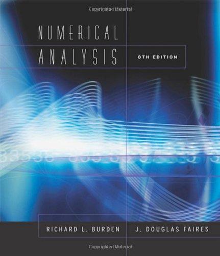 9780534392000: Numerical Analysis 8e