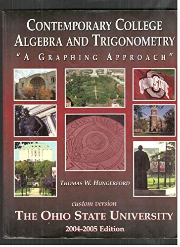 Contemporary College Algebra and Trigonometry (custom Version): Thomas W Hungerford