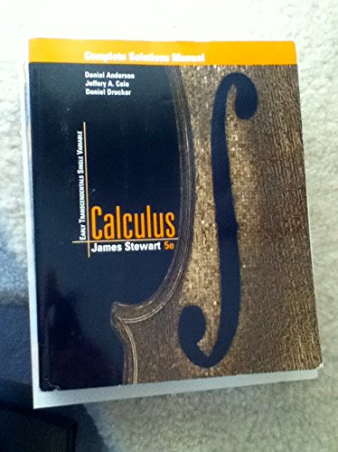 9780534393335: Calculus Early Transcendentals Single Variable (Student Solutions Manual)