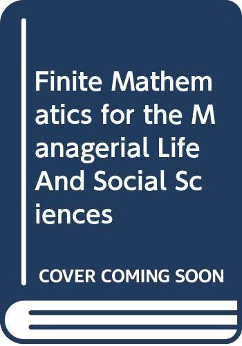 9780534394233: ISM Finite Math F/MLSS 7e