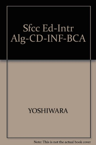 9780534395124: Introductory Algebra: Equations and Graphs, SFCC Edition (with CD-ROM, BCA/iLrn™ Tutorial, and InfoTrac)
