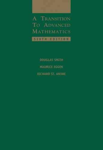 9780534399009: A Transition to Advanced Mathematics
