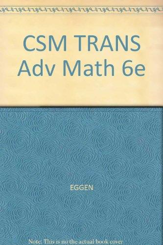 9780534399016: CSM TRANS Adv Math 6e