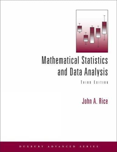 9780534399429: Mathematical Statistics and Data Analysis (Duxbury Advanced)