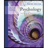 9780534399832: Study Guide for Weiten's Psychology: Themes and Variations- Briefer Version,6th Edition