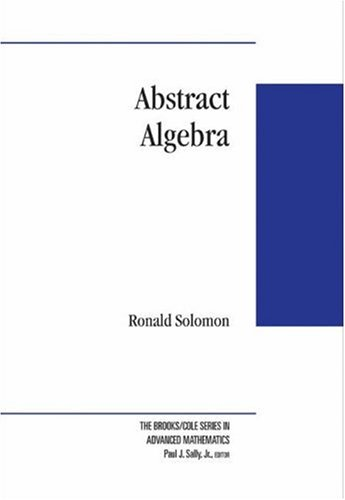 9780534399962: Abstract Algebra (Brooks/Cole Series in Advanced Mathematics)