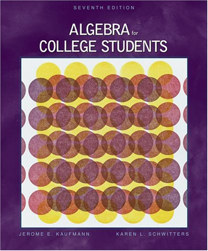 9780534400323: Algebra for College Students (with CD-ROM and InfoTrac) (Available Titles CengageNOW)