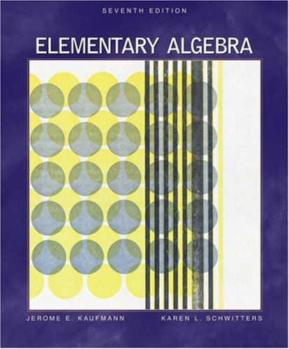 Elementary Algebra (with CD-ROM, BCA/iLrn Tutorial, and: Jerome E. Kaufmann,