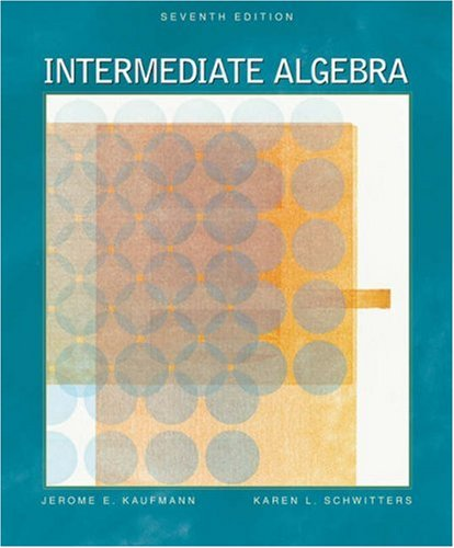 Intermediate Algebra (with CD-ROM, BCA/iLrn Tutorial, and: Jerome E. Kaufmann,