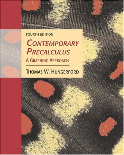 Contemporary Precalculus: A Graphing Approach (with CD-ROM,: Thomas W. Hungerford