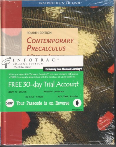 Contemporary Precalculus: A Graphing Approach, Instructor's 4th Edition: Hungerford, Thomas W.