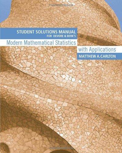 Student Solutions Manual for Devore/Berk's Modern Mathematical: Devore, Jay L.;