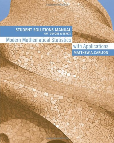 9780534404741: Student Solutions Manual for Devore/Berk's Modern Mathematical Statistics with Applications