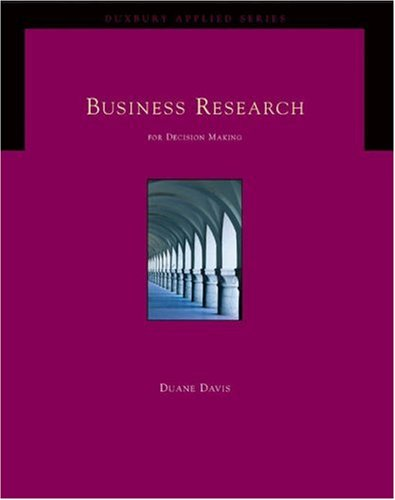 9780534404826: Business Research for Decision Making (Duxbury Applied Series) (Book & CD-ROM)