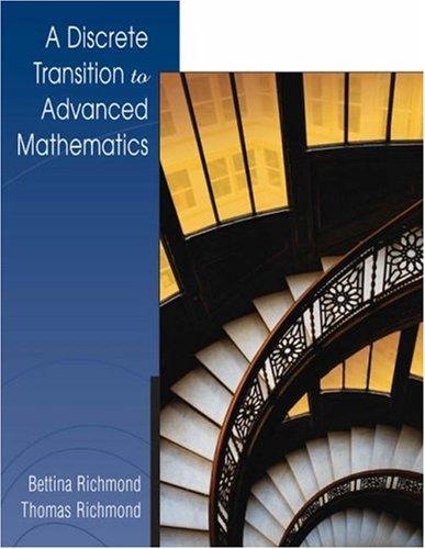9780534405182: A Discrete Transition to Advanced Mathematics