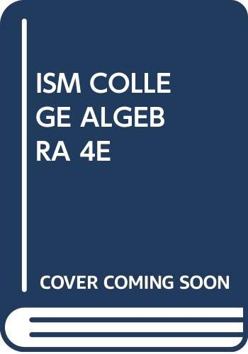 Ism College Algebra 4th 0534406041 9780534406042 Instructor's: Stewart