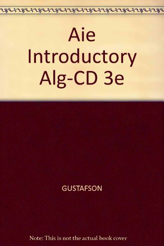 9780534407360: Aie Introductory Alg-CD 3e