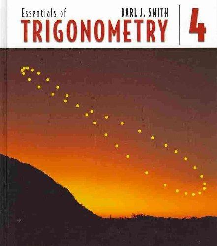 9780534407599: Essentials of Trigonometry (Book Only)