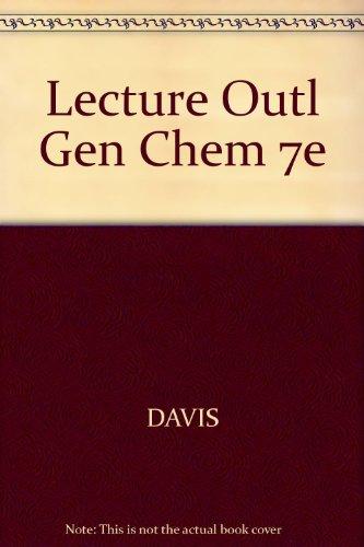 9780534409852: Lecture Outl Gen Chem 7e