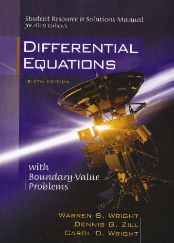 9780534418885: Student Resource & Solutions Manual for Zill & Cullen's Differential Equations With Boundary-Value Problems