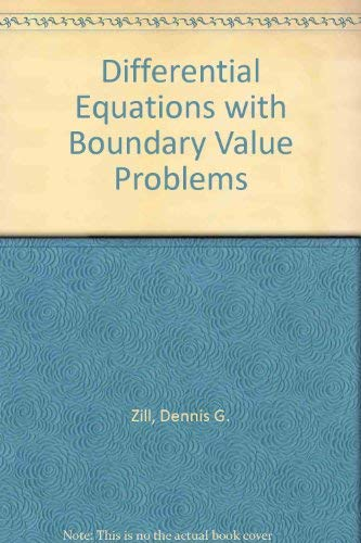 9780534418892: Differential Equations with Boundary Value Problems (Solutions Manual)