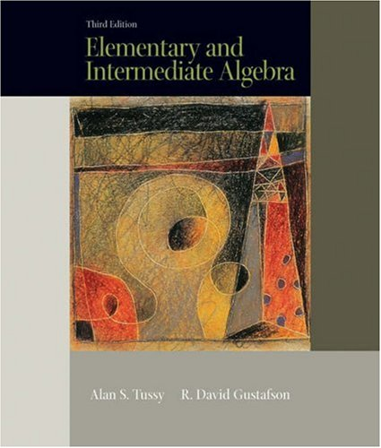 9780534419325: Elementary and Intermediate Algebra (with CD-ROM and iLrn Tutorial) (Available Titles CengageNOW)