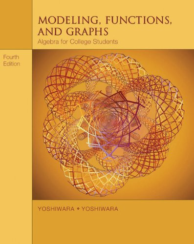 9780534419417: Modeling, Functions, and Graphs: Algebra for College Students (with iLrn™ Printed Access Card) (Available Titles CengageNOW)