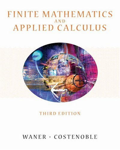 9780534419677: Finite Mathematics and Applied Calculus (with InfoTrac)