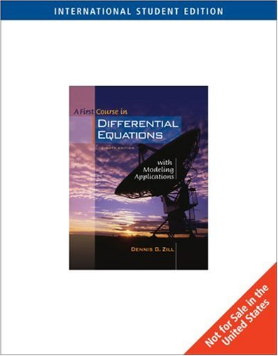 9780534420383: First Course in Differential Equations with Modeling Applications: With Ilrn Tutorial