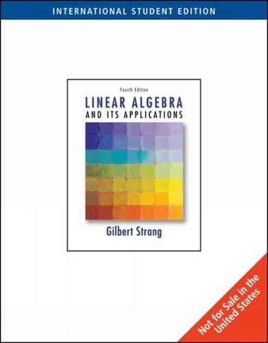 9780534422004: Linear Algebra and Its Applications
