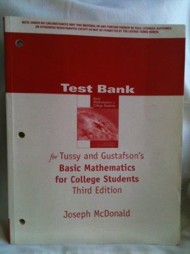 TB Basic Math Coll Stdt 3e (053442242X) by GUSTAFSON; TUSSY