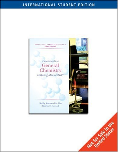 9780534423384: Experiments in General Chemistry (Featuring MeasureNet) (Brooks/Cole Laboratory Series for General Chemistry)