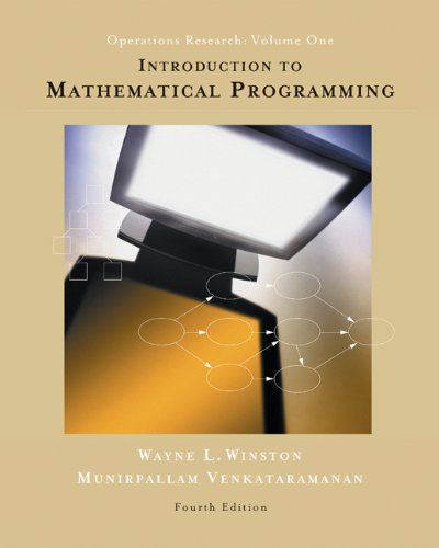 9780534423575: 1: Introduction to Mathematical Programming: Applications and Algorithms (Non-InfoTrac Version with CD-ROM)