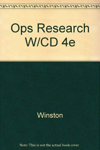 9780534423582: Operations Research