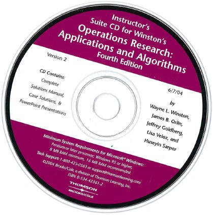 9780534423612: INSTRUCTOR SUITE ON CD- OPERA TIONS RESEARCH