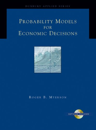 9780534423810: Probability Models for Economic Decisions (with CD-ROM) (Duxbury Applied)