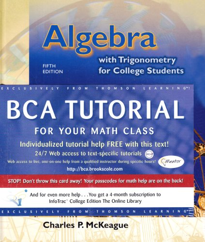 9780534432959: Algebra with Trigonometry for College Students (Book & CD-ROM)