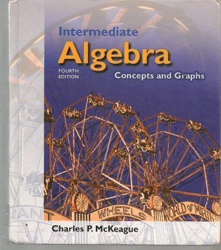 9780534433499: Intermediate Algebra: Concepts and Graphs (with Digital Video Companion, Make the Grade, and InfoTrac)
