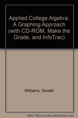 9780534436827: Applied College Algebra: A Graphing Approach (with CD-ROM, Make the Grade, and InfoTrac)