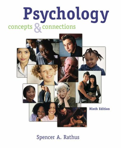 Psychology: Concepts and Connections (with CD-ROM, Student: Spencer A. Rathus